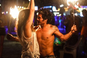 Full Moon Party October 2014 Main Photo. Girl and FireShow.
